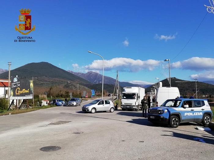 Polizia di Stato, controlli straordinari nelle Valli Caudina e Telesina