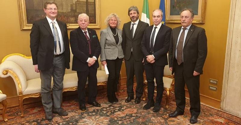 Una delegazione dell' ANPCI ieri a Roma ricevuti da Robeto Fico.