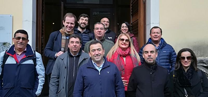 La delegazione della Capitale Europea del vino 2018 in visita nel Sannio