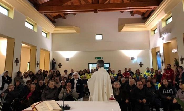 Giornata del Malato, celebrata dal vescovo mons. Battaglia una messa all'ospedale di Sant'Agata de' Goti