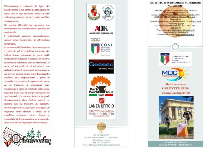 L'Istituto G.Alberti di Benevento presenta il MOC (Mediterranean Open Championship Orienteering) 2019.