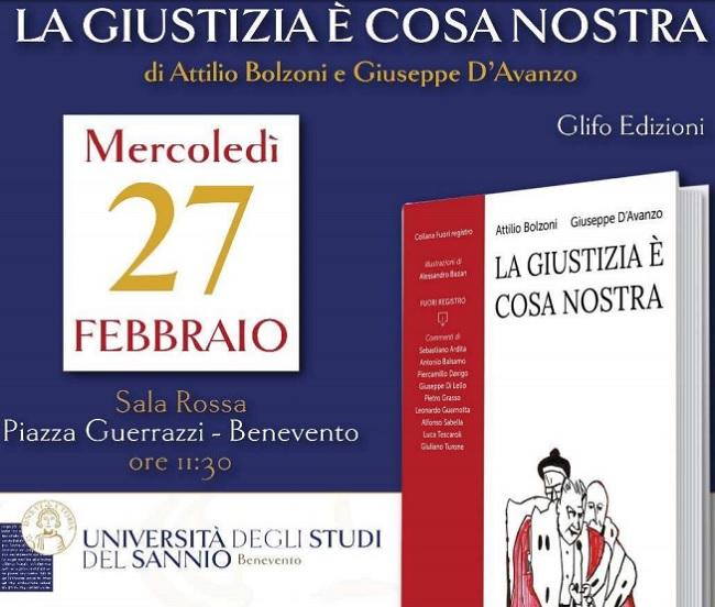 """All'Università del Sannio presentazione del libro: """"La giustizia è Cosa Nostra""""."""