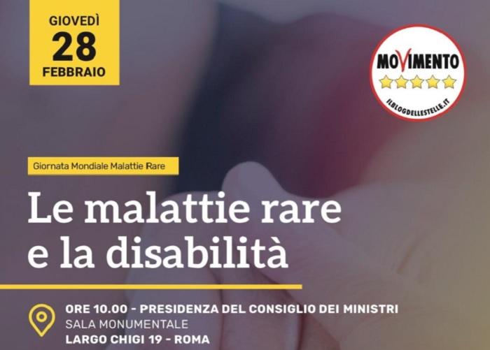 """Convegno Giornata Mondiale """"Malattie Rare e la disabilità""""presso la Presidenza del Consiglio dei Ministri."""