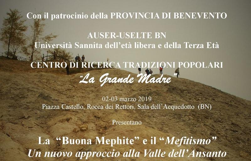 Presso la Sala dell'Acquedotto alla Rocca dei Rettori domani sarà inaugurata la mostra La Buona Mefite e il Mefitismo.