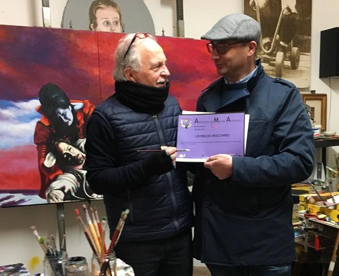Conferito il premio per la ricerca artistica al prof. Leonildo Bocchino.
