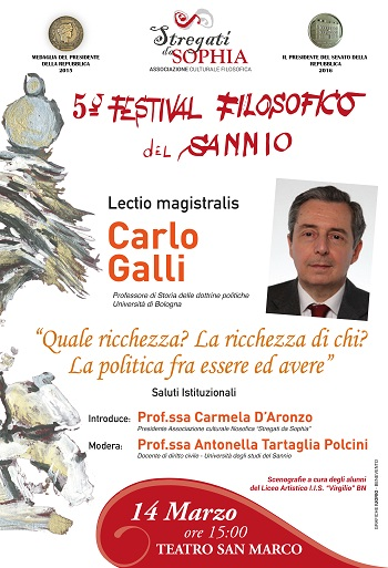 """"""" Stregati da Sophia"""" 9° appuntamento del Festival Filosofico del Sannio il 14 marzo."""