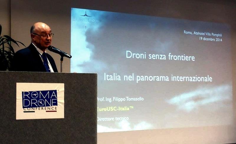 L'Unifortunato al Roma Drone Conference 2019.