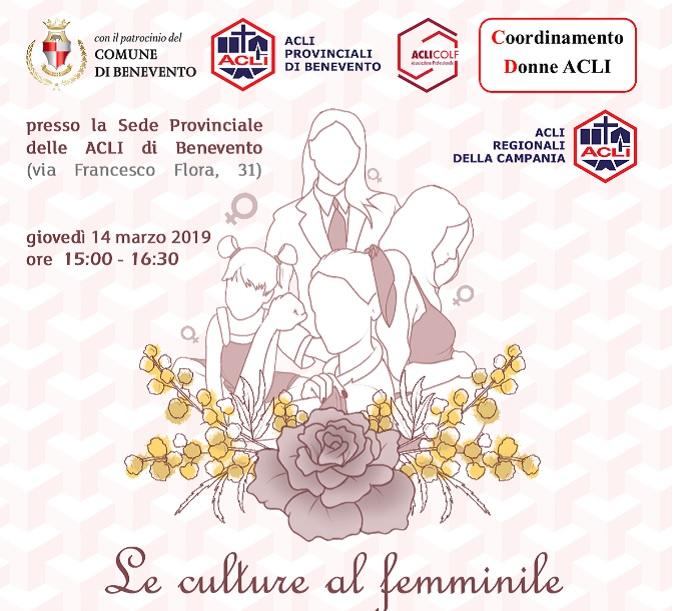 Incontro – Le culture al femminile promosso dal Coordinamento Donne delle Acli Benevento.
