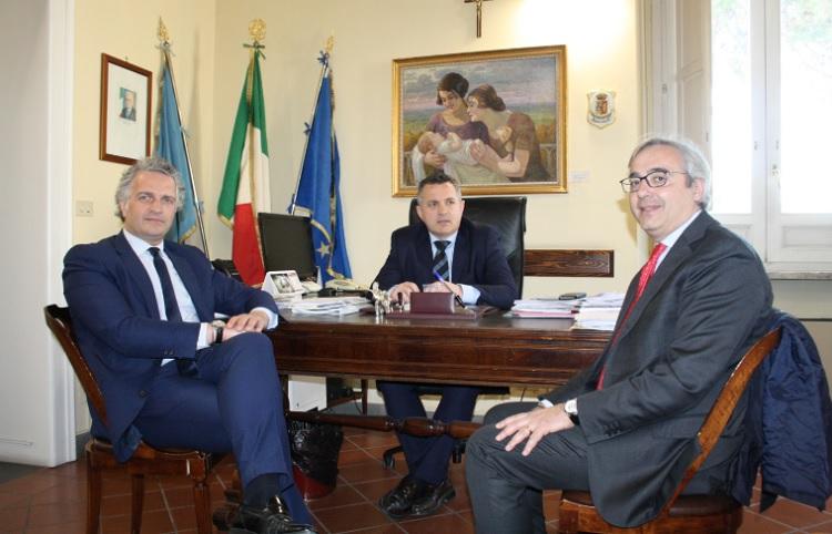 Antonio Di Maria, ha ricevuto il Vice Presidente dell'UPI campane Claudio Cataudo