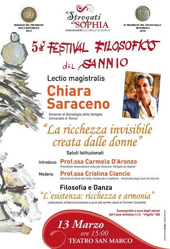 """"""" Stregati da Sophia"""": il 13 Marzo al via l'ottavo appuntamento del 5° Festival Filosofico del Sannio."""