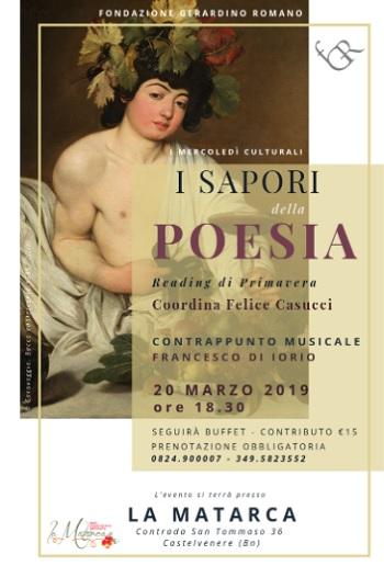 """Fondazione Gerardino Romano:""""I sapori della Poesia"""".Letture poetiche e contrappunto musicale."""