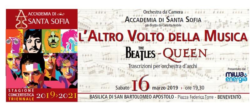 """""""W""""The Beatles Queen – L'Altro Volto della Musica"""".Concerto dell'Orchestra dell'Accademia di Santa Sofia"""