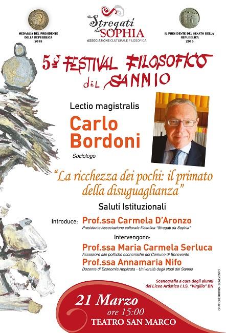 5° Festival Filosofico. Il 21 Marzo il decimo appuntamento