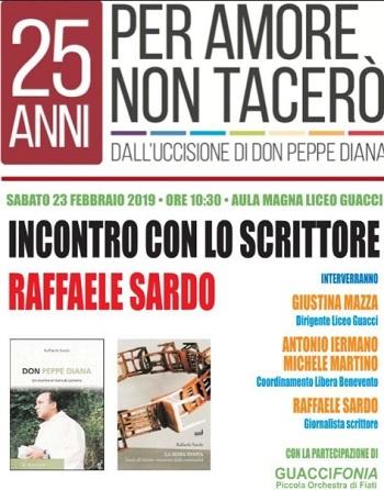 Associazione Libera: Sabato 16 marzo incontro con Raffaele Sardo al Liceo Guacci