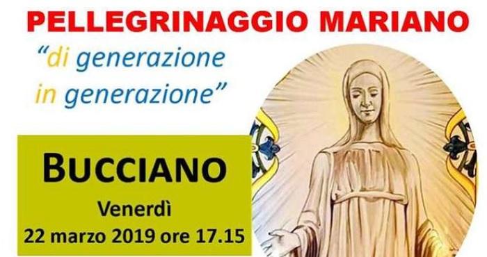 """Venerdì 22 Marzo a Bucciano la """"Peregrinatio Mariae"""" nazionale per gli Adultissimi."""