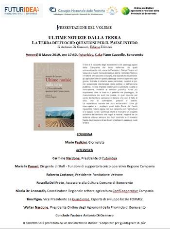 Campania è l' oro dei campi. Non è Terra dei fuochi.Il libro sarà presentato presso Futuridea.