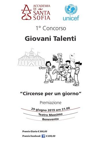 """Accademia Santa Sofia: 1° Concorso """"Giovani Talenti"""" sul tema:""""Circense per un giorno"""""""