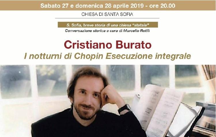 """Santa Sofia in Santa Sofia"""": il pianista Burato e i """"Notturni"""" di Chopin"""