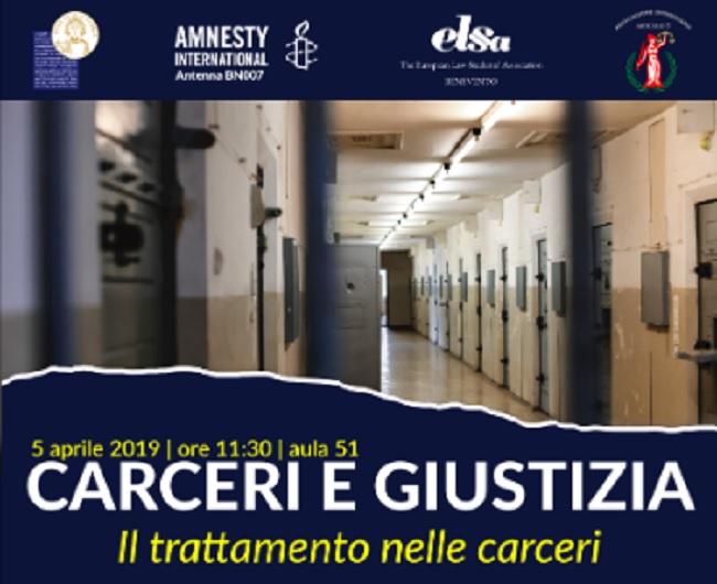 """UniSannio: """"Carceri e Giustizia"""" al via il ciclo di seminari organizzati da Elsa Benevento ed Articolo 3"""