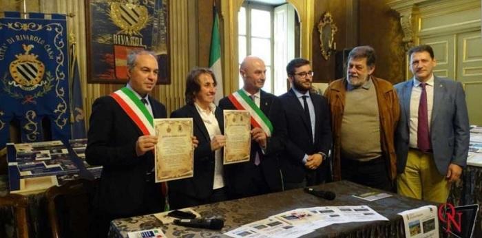 Ginestra degli Schiavoni, Zaccaria Spina, a Rivarolo Canavese per la sottoscrizione dell'Atto di Gemellaggio