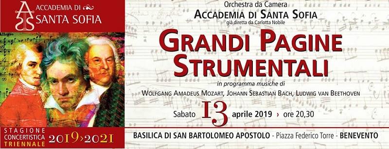 """Concerto """"Grandi Pagine Strumentali"""" il 13 aprile nella Basilica di San Bartolomeo."""