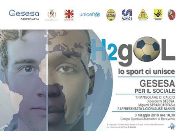 """Gesesa: il 3 Maggio la seconda edizione di """"H2Gol Lo Sport ci Unisce"""""""