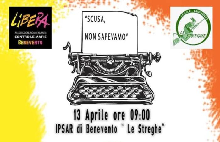 """""""Scusa non Sapevamo"""".Incontro domani all'Istituto IPSAR """"Le Streghe"""" con Libera Benevento."""