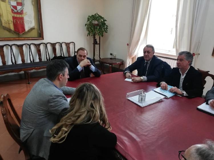 Benevento. Il sindaco Mastella ha ricevuto il presidente della Cesare Pozzo, Armando Messineo