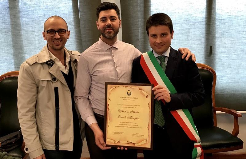 Puglianello, Conferita l'onoreficenza di cittadino Illustre a Danilo Mongillo.