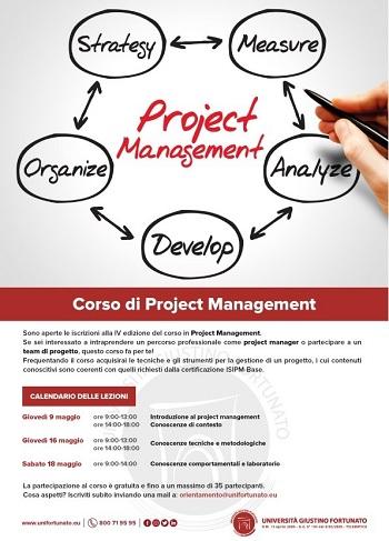 Al Via all'Unifortunato il Corso di Project Management.