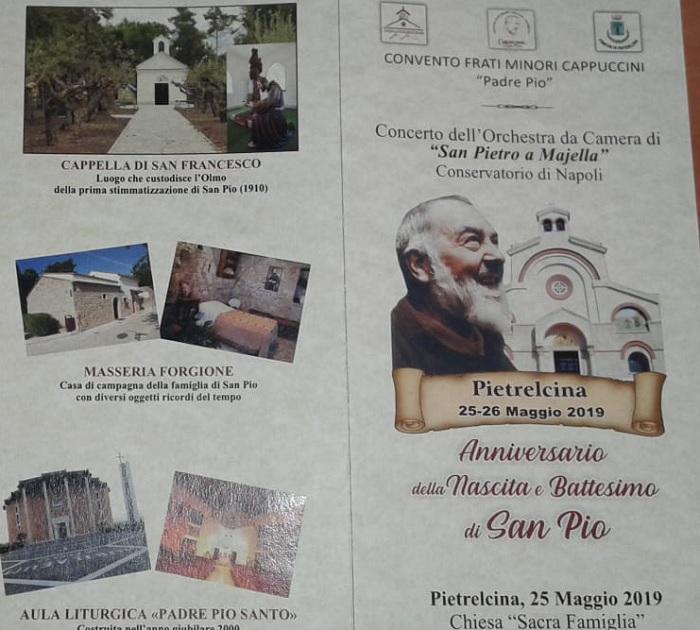 Anniversario nascita Padre Pio. Il 25 Maggio a Pietrelcina l'orchestra da camera del Conservatorio di Napoli.
