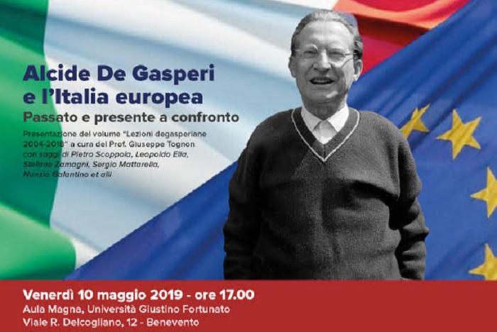 """All'Unifortunato """"Alcide De Gasperi e l'Italia Europea"""" il 10 Maggio con l'illustre prof. Giuseppe Tognon"""