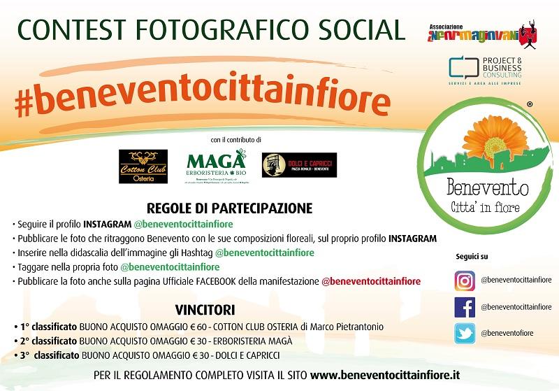 """Al via il contest fotografico social """"Beneventocittainfiore"""""""