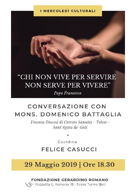 """Fondazione Gerardino Romano. """"Chi non vive per servire non serve per vivere"""""""