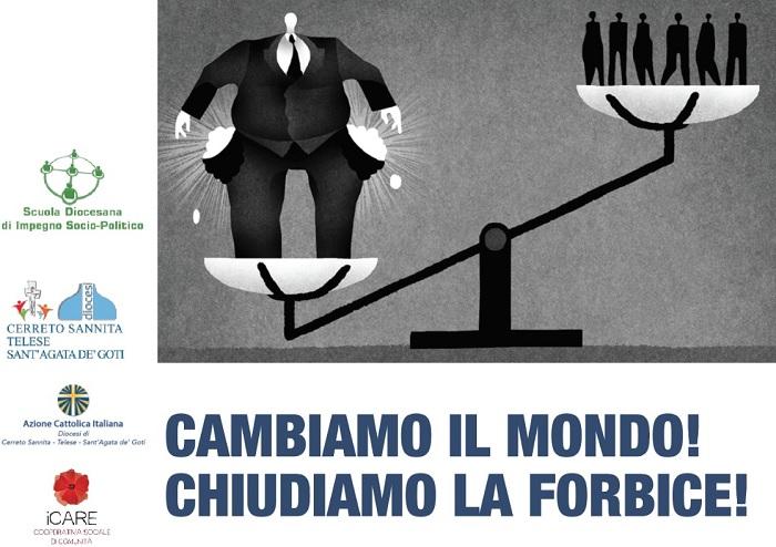 Diocesi di Cerreto: domani si discuterà sulle cause strutturali di un sistema economico che uccide, esclude, scarta.