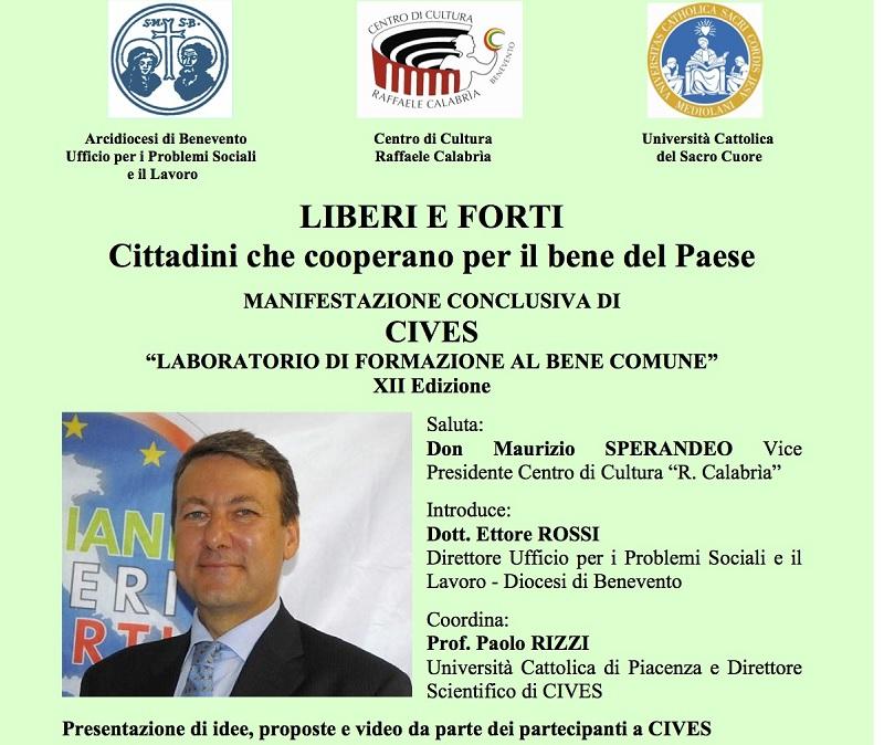 Gaspare Sturzo concluderà la dodicesima edizione di Cives