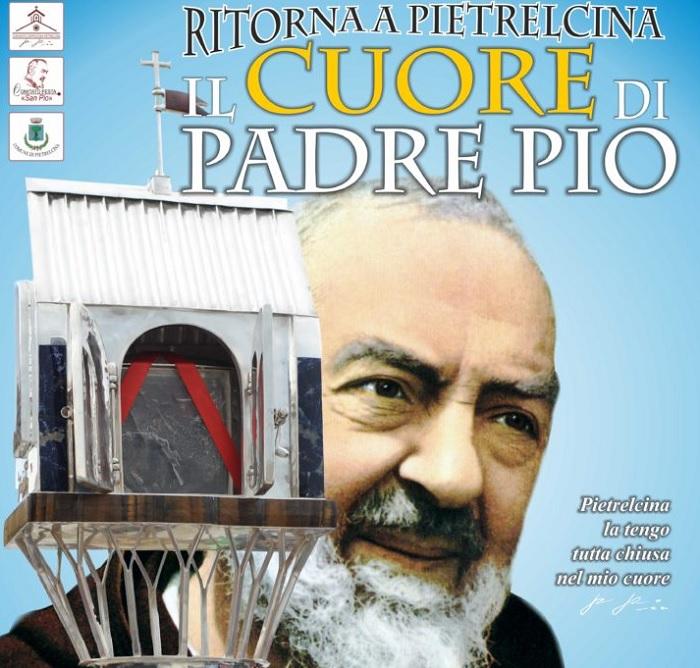 """Pietrelcina: Presso la chiesa """"Sacra Famiglia"""" il gran ritorno della sacra reliquia """"cuore di Padre Pio"""""""