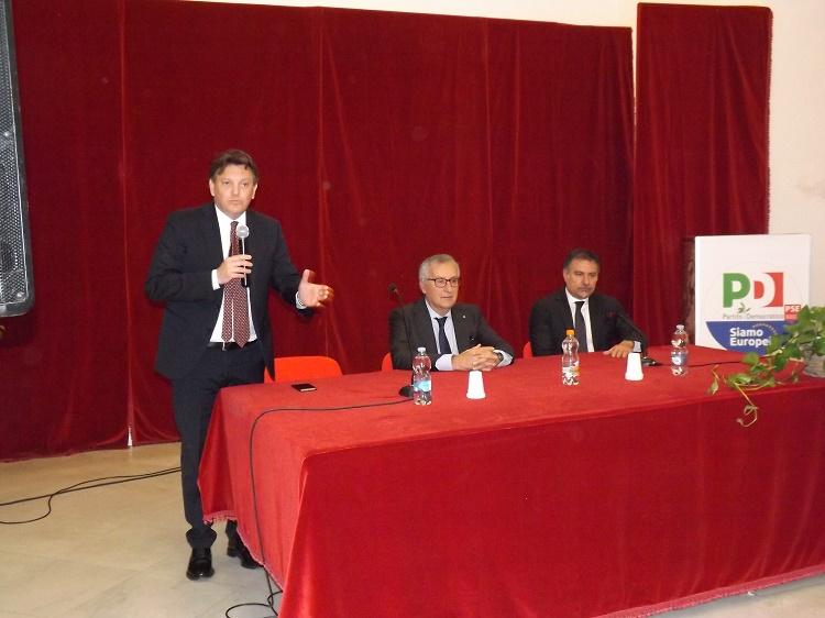 Franco Roberti candidato Pd alle Europee, questa mattina a Benevento.