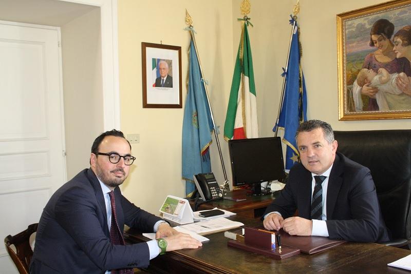 Di Maria incontra alla Rocca il commissario Provinciale di Forza Italia
