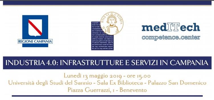 Industria 4.0: infrastrutture e servizi in Campania, lunedì alla sala ex Biblioteca di Palazzo San Domenico