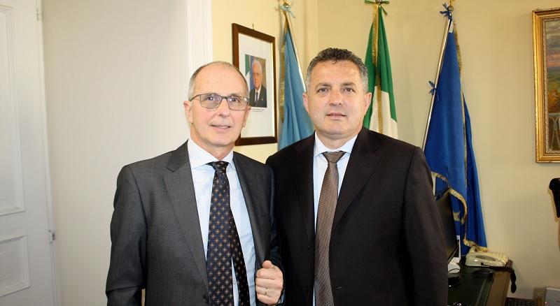 Il Neo Questore Luigi Bonaugura in visita dal Presidente della Provincia Antonio di Maria