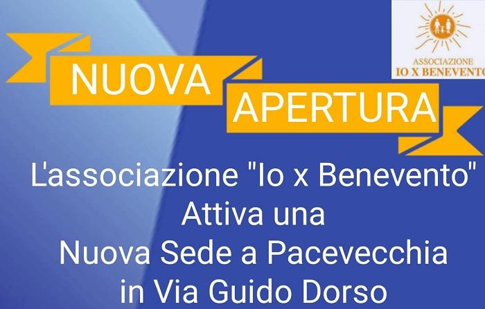 Io X Benevento apre una nuova sede a Pacevecchia