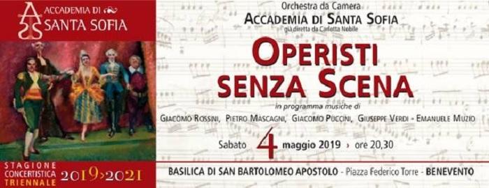 """""""Operisti senza scena"""" ultimo appuntamento della Stagione concertistica dell'Accademia di Santa Sofia"""