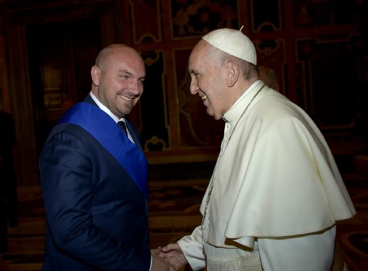 Il Vice Presidente della Provincia di Benevento Domenico Parisi in Udienza dal Santo Padre