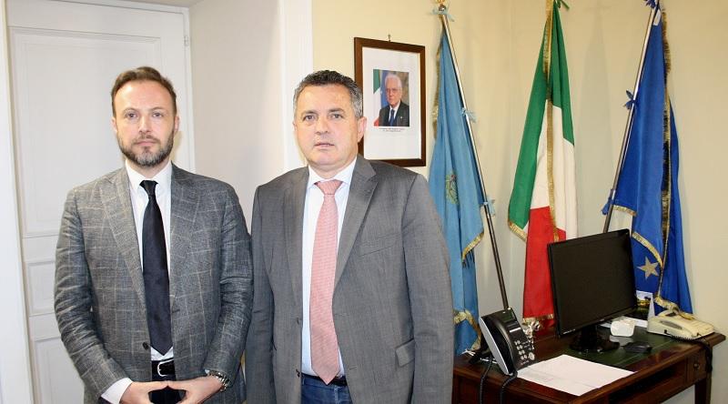 Antonio Di Maria incontra il Presidente dei Consulenti del Lavoro Vincenzo Testa.