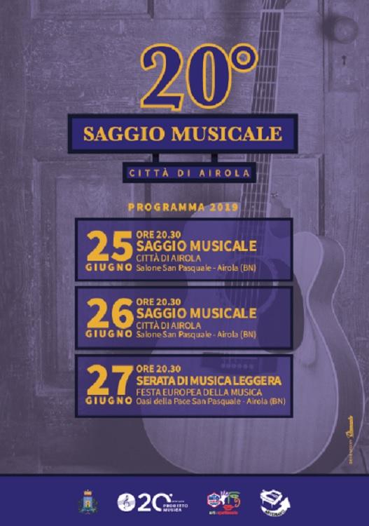 AcliArteSpettacoloSannio, al via la XX edizione del Saggio Musicale Città di Airola della Progetto Musica