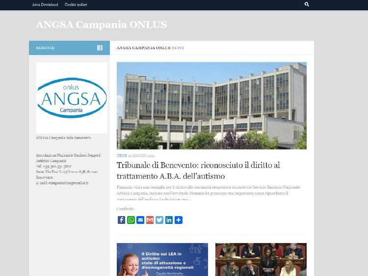 Campania: online il nuovo sito dell'Associazione Genitori Soggetti Autistici