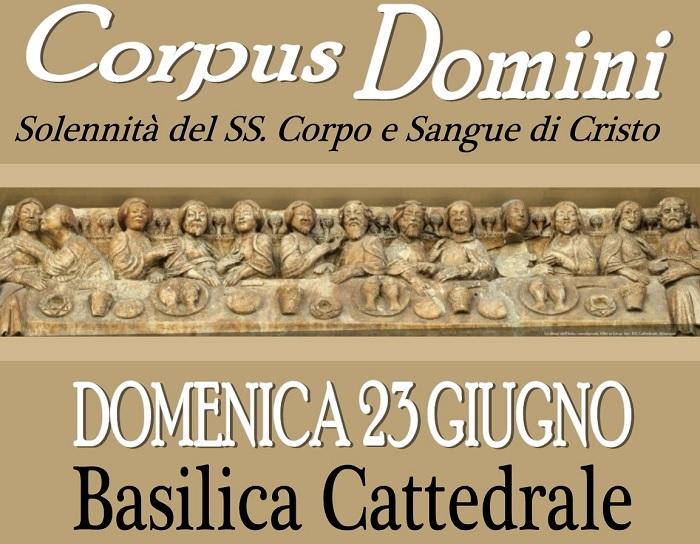 Arcidiocesi di Benevento: celebrazione della solennità del Corpus Domini presso la Cattedrale