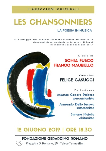 Fondazione Gerardino Romano: mercoledì 12 Giugno Conversazione con Sonia Fusco e Franco Mauriello