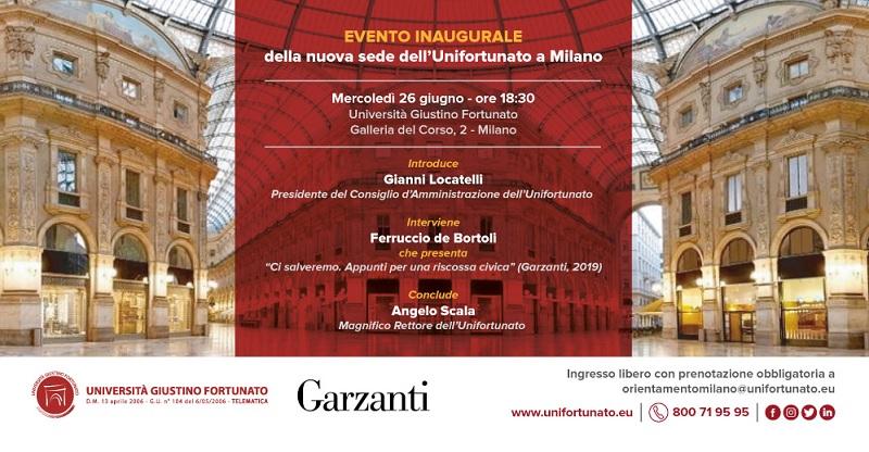 Nel cuore di Milano la nuova sede dell'Unifortunato.